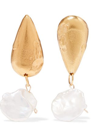 Alighieri | The Fear and The Desire gold-plated pearl earrings | NET-A-PORTER.COM