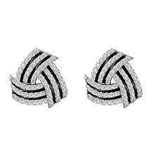 black and white earrings - Google Search