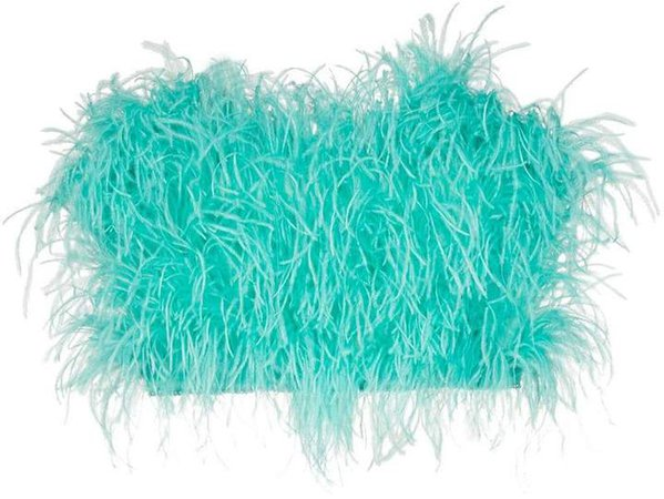 Ostrich Feather Cropped Bustier