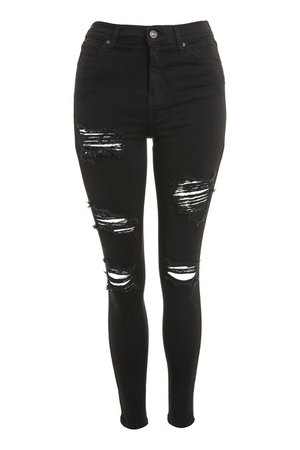 Washed Black Super Ripped Jamie Jeans - Ripped Jeans - Jeans - Topshop