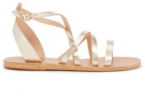 Delia Leather Sandals - Gold