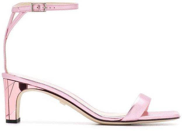 metallic-tone heeled sandals