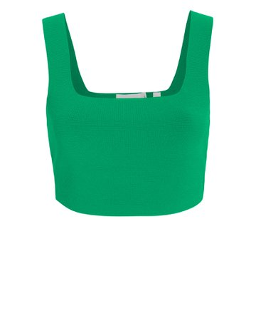 Green Crop Knit Tank Top | A.L.C. | INTERMIX®