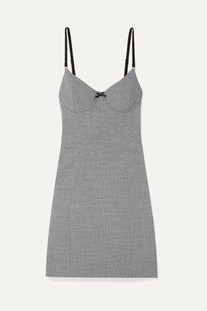 Black Houndstooth tweed mini dress | Alexander Wang | NET-A-PORTER