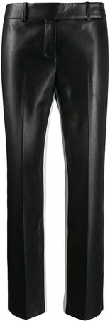 straight-leg polished trousers