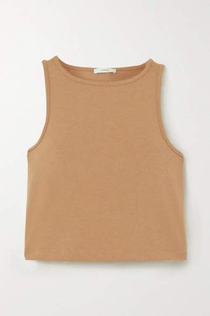 Cropped Cotton-jersey Tank - Sand