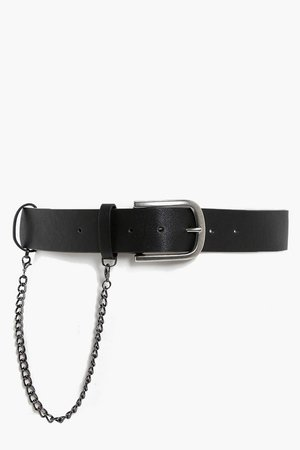 Chain Detail Boyfriend Belt | Boohoo