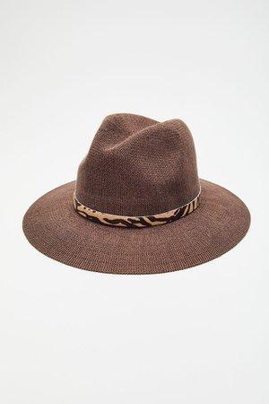 Faye Printed Trim Panama Hat | Urban Outfitters