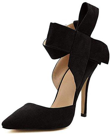 Amazon.com   MMJULY Women's Pointy Toe High Heel Stiletto Big Bow Pumps   Pumps