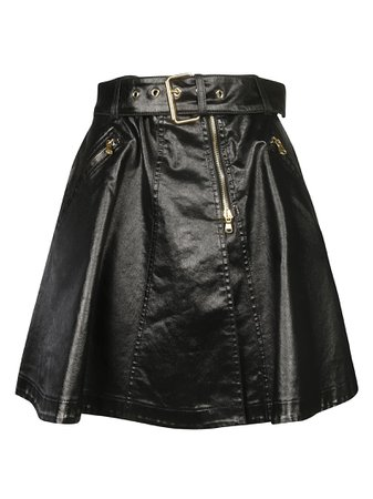 Moschino Belted Flared Skirt