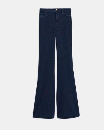 Valentina High-Rise Flared Jean in Stretch Denim