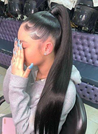Black Ponytail Hairstyle