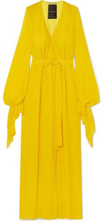 Swanson Silk-crepe Gown - Yellow