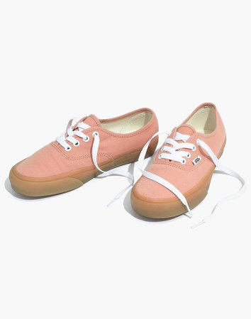 Vans Unisex Authentic Sneakers in Muted Clay Canvas