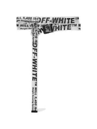 White off white belt