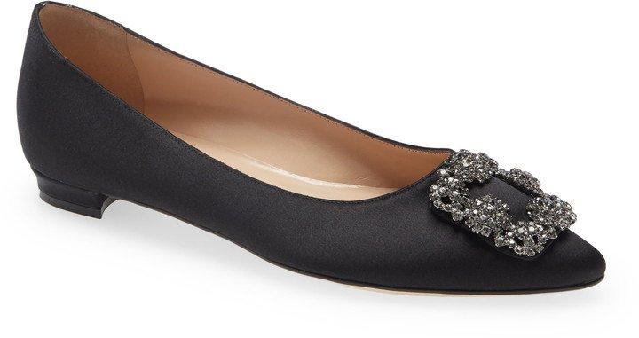 Hangisi Jeweled Pointy Toe Flat