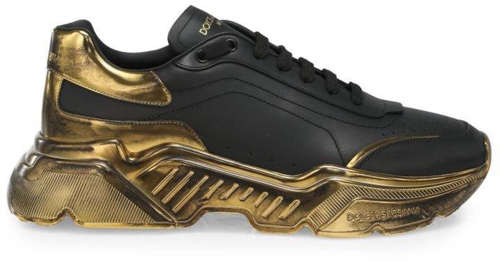 Metallic-Trim Low-Top Sneakers
