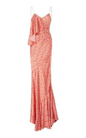 Ruffled Floral Gown by Zac Posen | Moda Operandi
