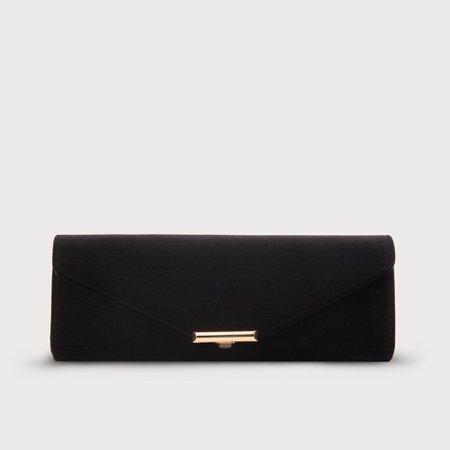 Cecilia Black Velvet Clutch Bag | Handbags | L.K.Bennett