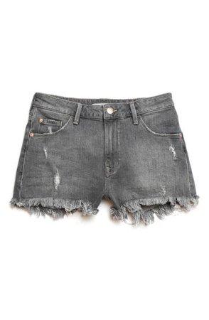 Mavi Jeans Rosie Distressed High Waist Cutoff Denim Shorts | Nordstrom