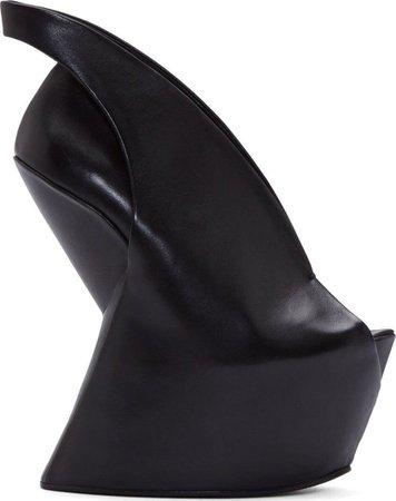 black futuristic shoes