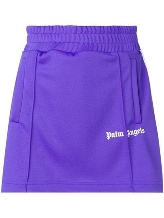 Palm Angels side stripe A-line track skirt $258 - Buy SS19 Online - Fast Global Delivery, Price