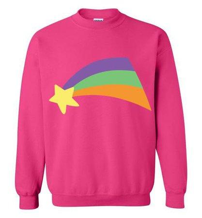 Glorious Merch Mabel Pines Shooting Star Rainbow Gravity Falls Cosplay Gildan Crewneck Sweatshirt
