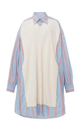 Maison Margiela Layered Oversized Cotton Shirt