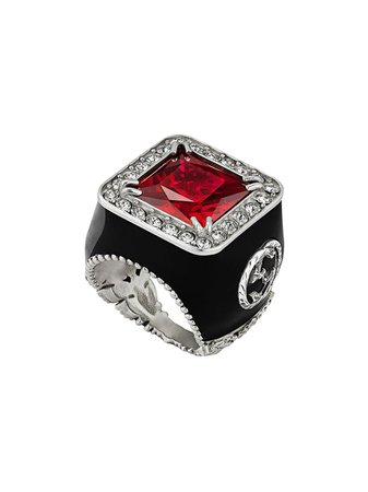 Gucci Ring With Stone And Crystals - Farfetch