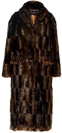 Faux Fur Coat - Brown