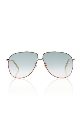 Gucci Sunglasses Aviator-Style Metal Sunglasses