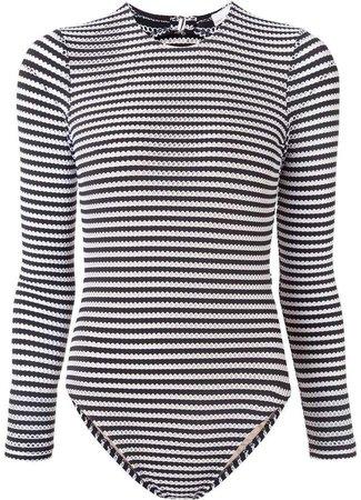 striped one piece