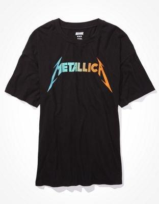 Tailgate Women's Metallica Oversized Graphic T-Shirt black