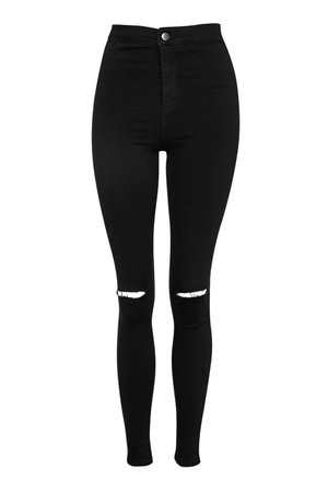 MOTO Black Ripped Joni Jeans | Topshop