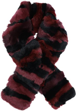 Kathleen Genuine Rex Rabbit Fur Pull Through Scarf