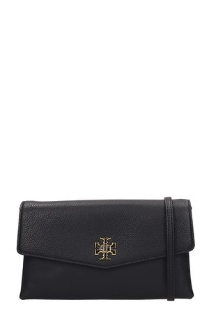 Tory Burch Kira Black Leather Shoulder Bags