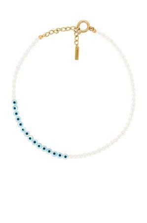 Jennifer Behr Evil Eye Necklace in Pearl | REVOLVE