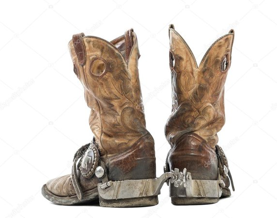 Cowboy Boots With Spurs Royalty