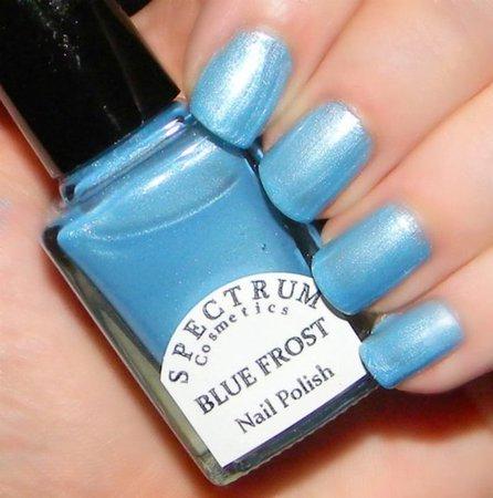 BLUE FROST Frosty Light Blue Nail Polish Winter Blues | Etsy