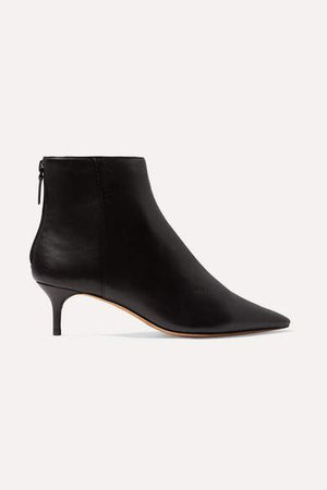 Kittie Leather Ankle Boots - Black