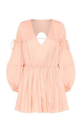 Overture Gathered Cotton Mini Dress By Aje   Moda Operandi