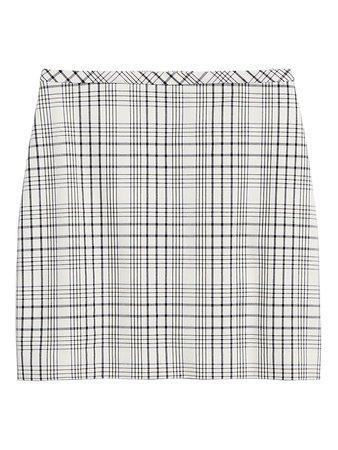 Plaid Bi-Stretch Mini Skirt | Banana Republic