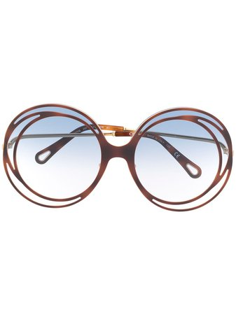 Chloé Eyewear Carlina Oversized Round Sunglasses - Farfetch