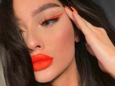orange eyeliner