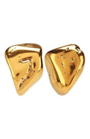 Женские золотые серьги rock BALENCIAGA — купить за 43500 руб. в интернет-магазине ЦУМ, арт. 578183/TZ35Z