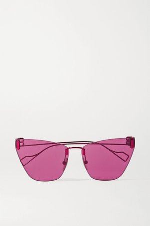 Fuchsia Cat-eye metal sunglasses   Balenciaga   NET-A-PORTER