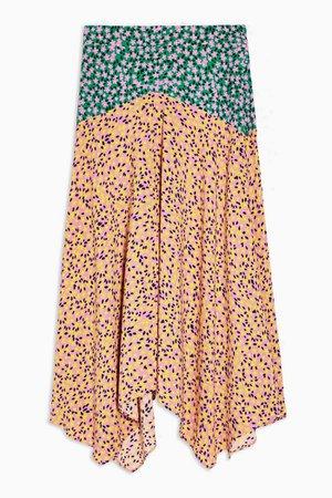 Multi Mixed Floral Print Skirt | Topshop