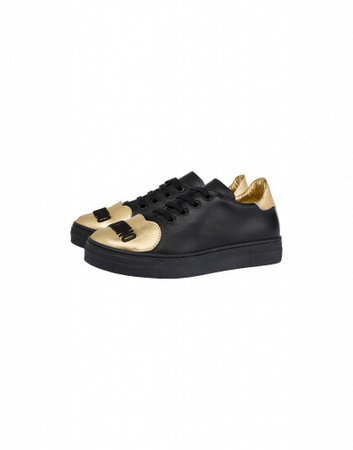 Calfskin Sneakers Gold Teddy