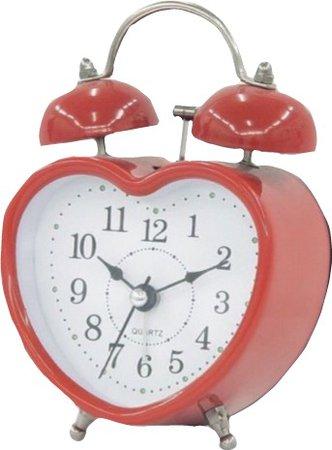 red heart alarm clock