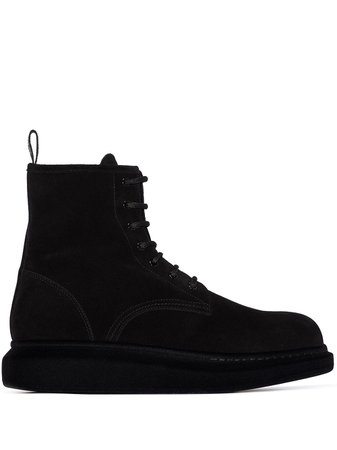 Alexander McQueen lace-up Suede Boots - Farfetch
